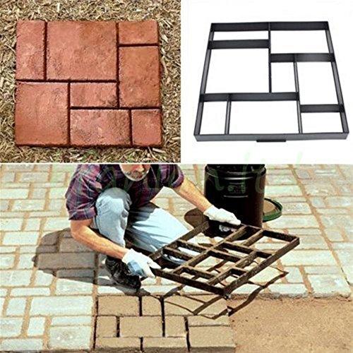 Malayas® Molde para cemento, Molde para Hormigón, Molde para hacer Pavimentos/ Caminos/ Suelos de Jardín, Patio, Balcón, Terraza, de Plástico Resistente, 60x50cm