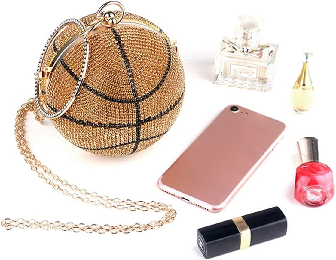 TOPOU Evening Clutch Women Evening Bags Rhinestones Party Handbags Ball Clutch Banquet Leather Purse (Color : Gold, Size : Small)