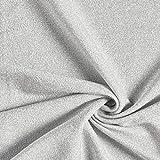 Fabulous Fabrics Jersey silber, Uni, 160cm breit – zum