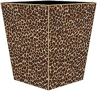 Leopard Print Wastepaper Basket