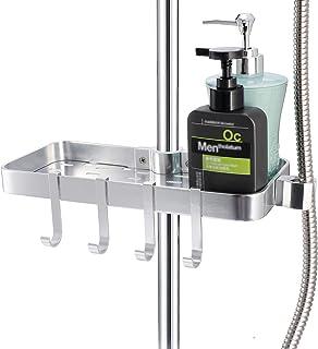 Étagère de douche en aluminium Space - Costume [24-25mm] Rail, support de rangement/étagère de salle de bain/organisateur/...