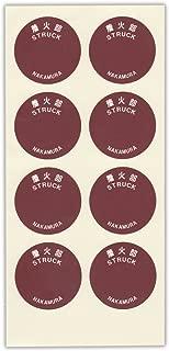 缶マッチ用張り替え側薬シール(1枚-8ラベル)