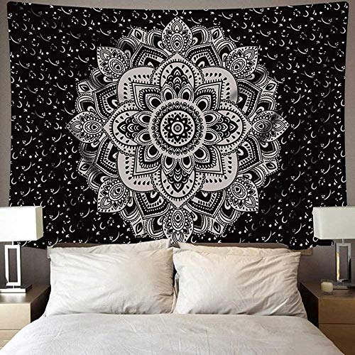 N / A Indian mandala tapestry wall hanging beach blanket travel mattress bohemian sleeping mat tapestry A8 95cmx73cm