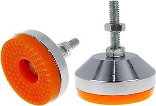 2 قطعة من LICTOP M8x50 ملليمتر غير زلق قابل للتعديل قدم تسوية للخدمة الثقيلة لساق المسمار للأثاث، منضدة العمل، الآلة، المع...