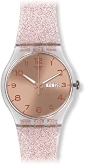 Swatch Unisex Mother of Pearl Dial Mixed Band Watch - SUOK703