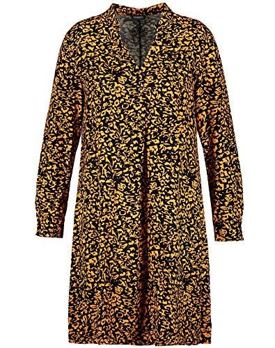 Samoon Womens Kleid Gewebe Casual Dress, Butterscotch Gemustert, XXXX-Large
