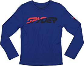 Spyder Youth Boys (8-20) Athletic Long Sleeve Graphic Cotton Tee