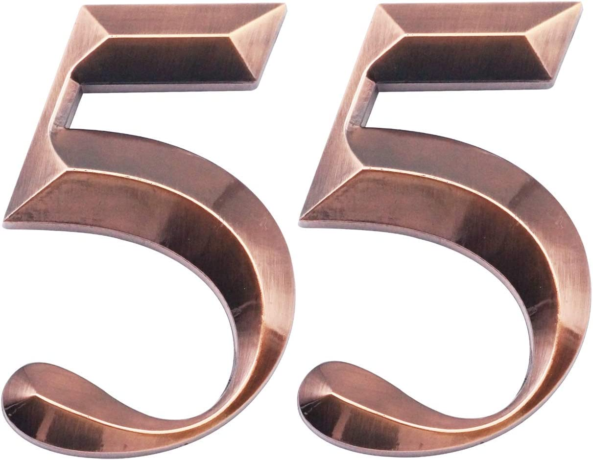 Two Pieces House Numbers Discount mail order SEAL limited product 3D Self-Adhesive Mailbox Addr
