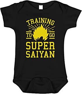 Training to Go Super Saiyan Onesie   Funny Anime Baby Clothes   Dragon Ball Z Inspired Bodysuit Romper