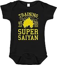 Training to Go Super Saiyan Onesie | Funny Anime Baby Clothes | Dragon Ball Z Inspired Bodysuit Romper
