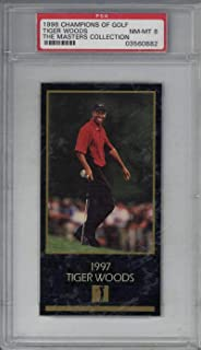 Tiger Woods 1998 Champions of Golf Masters Collection Golf Card GOAT PSA 8