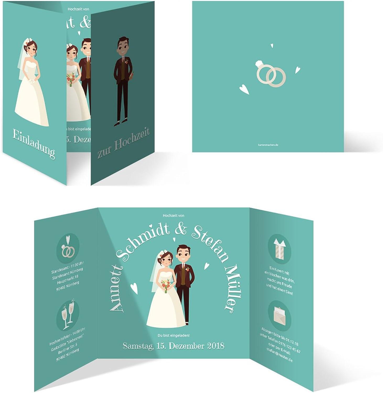 50 x Hochzeitseinladungen Hochzeit Hochzeit Hochzeit Einladungskarten individuell Klappkarten - Altar Brautpaar B07DY6G3FX | Sale Online  24da9b