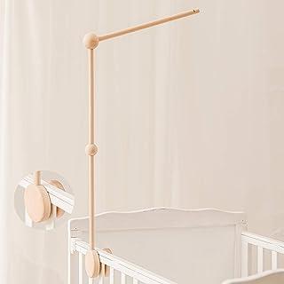 Baby Crib Mobile Holder - Wooden Mobile Arm for Crib,Crib Mobile Arm,Mobile Crib Hanger (Wooden Arm)