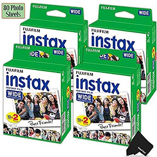 FujiFilm Instax Wide Instant Film 4 Pack (4 x 20)...