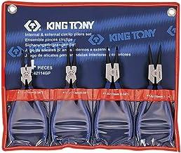 Conjunto com 04 Alicates para Anéis Ext e Int, Kingtony Br, 42114Gp