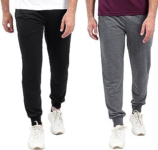 Off Cliff Elastic Trim Drawstring Waist Side Welt Pockets Slim Fit Sweatpants for Men, Set of 2