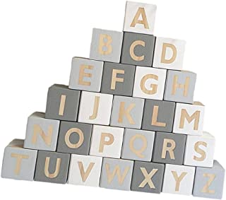 Dolity Kids Education 26 English Alphabet Letters Blocks Cubes Educational Craft Early Kids Education #a
