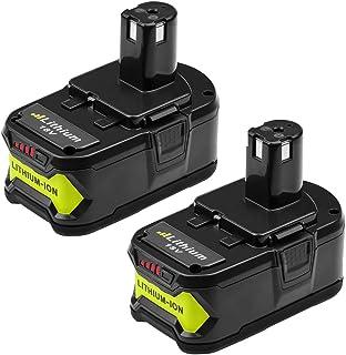 2 Packs 6.0Ah High Capacity P108 Battery for Ryobi 18V Lithium Ion Battery P102 P103 P104 P105 P107 P108 for Ryobi 18-Volt ONE+ Plus Power Tool Battery