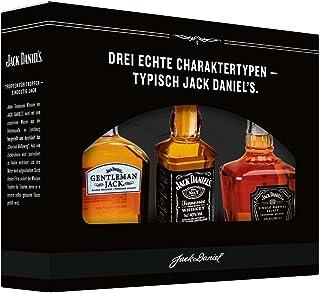 "Jack Daniel""s Old No. 7 Markenfamilien Geschenkset Gentleman Jack, Single Barrel zur Verkostung - limitiert Whisky 3 x 0.05 l"