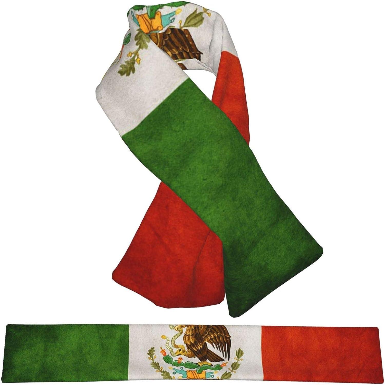 Winter Scarfs Vintage Mexican Flag Scarves Wraps Neck Warmer Flannel Winter Cross Tie Scarves