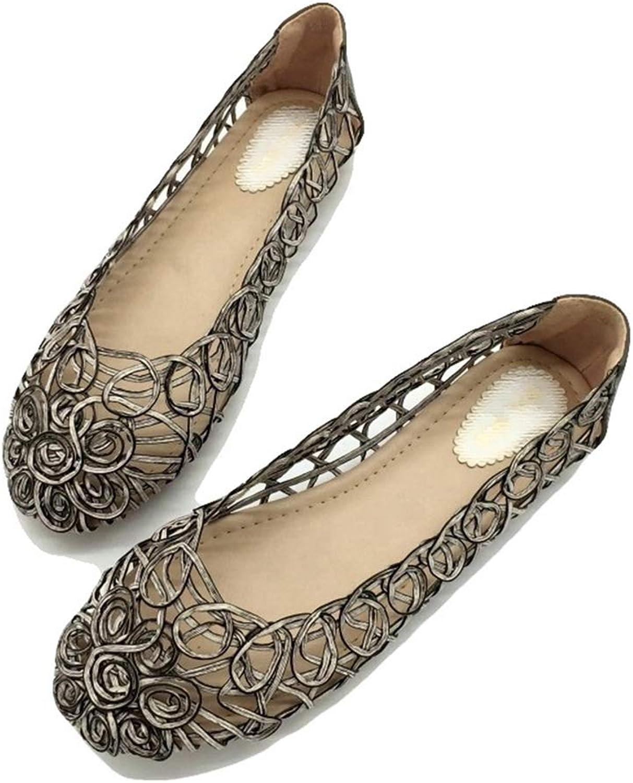 August Jim Women Flats Sandals,Slip-On Anti-Slip Female Casual shoes