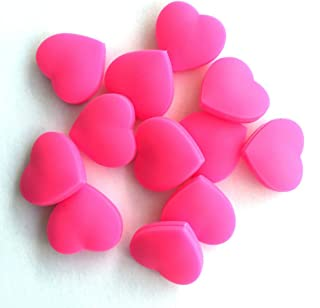 YOTHG 3 Pcs Tennis Racquet Rubber Vibration Dampeners Silicone Heart-Shaped Shock Tennis Racket Absorber Damper Sports Accessories