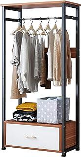 L.BAN Chambre à Coucher Porte-vêtements Porte-Manteau étagère à vêtements Support de Rangement Cintre Organisateur tiroir ...