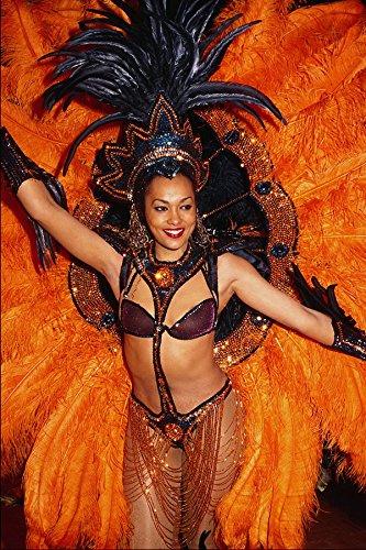 614099 Kostuum Voor Braziliaanse Carnaval A4 Photo Poster Print 10x8