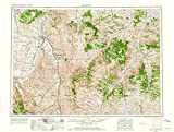 Montana Maps - 1954 Hardin, MT - USGS Historical Topographic Wall Art - 59in x 44in
