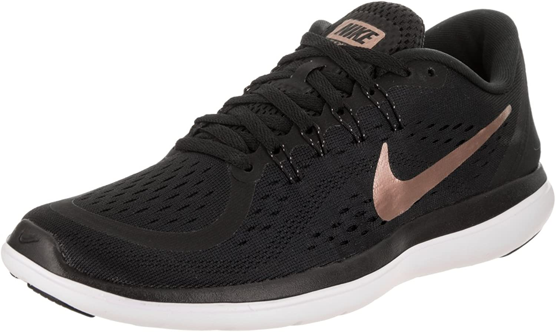 Nike Unisex Adults Zapatillas De Running WMNS Flex 2017 Rn Black Red Bronze MTLC Coo Fitness shoes