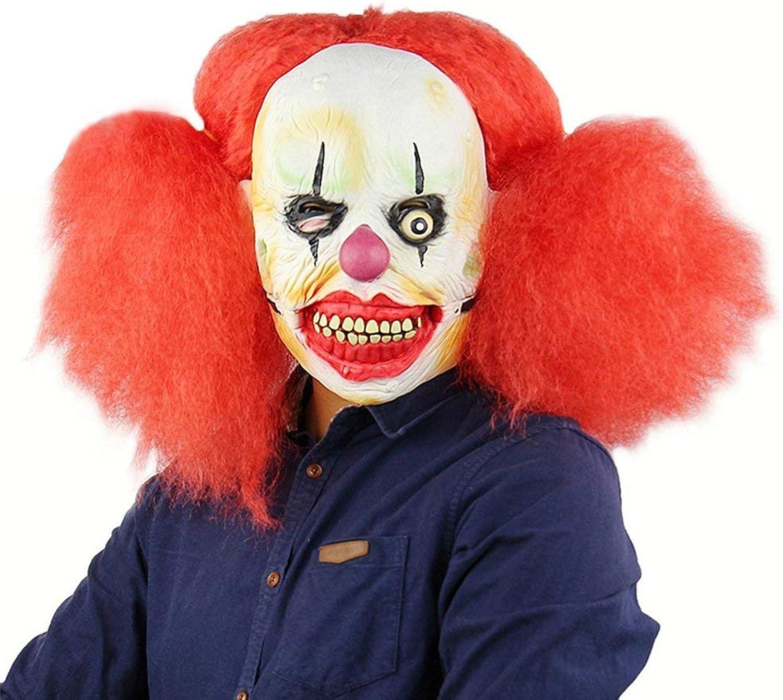 Zicue Humgoldus Mask Masquerade Prom Mask Red Big Dice Clown Mask Halloween Clown Back Soul Terrorist Funny Latex Headgear Mask mask