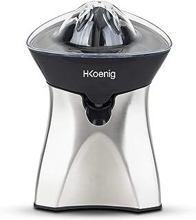 H.Koenig Presse Agrumes Electrique Inox AGR60 Sans BPA, Automatique Puissant 60 W, Jus Orange, Citron, Pamplemouse, Rapide...