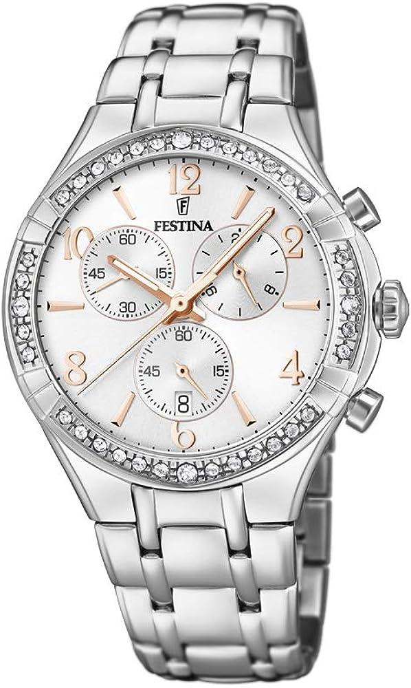 Festina orologio cronografo da donna  in acciaio inossidabile F20392/1