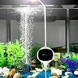 Chialstar Aquarienluftpumpen für Aquarien, 3,5W leise und leistungsstark Sauerstoff-Pumpe 200 Liter