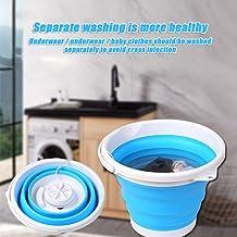 kebyy Mini Washing Machine+Foldable Tub,Portable Compact Washing Machine,Personal Rotating Ultrasonic Turbines Washer,USB Convenient Laundry for Camping Apartments Dorms RV Business Trip
