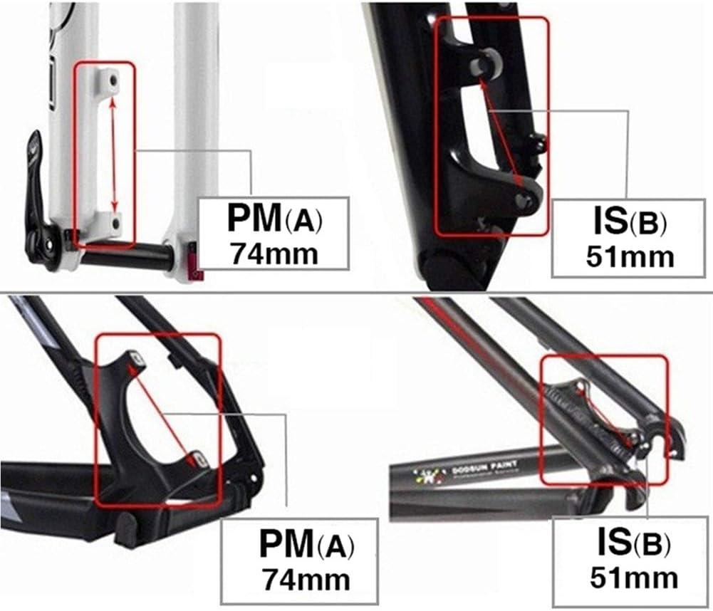 hudiemm0B Disc Brake Adapter ZT Ultralight Aluminum MTB Bike Disc Brake Mound Adapter for 140//160//180mm Rotor