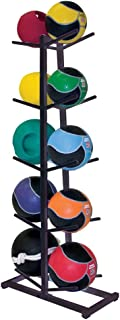 Power Systems Double Med Ball Tree, Stores up to 10 Standard Medicine Balls, 23 x 11 x 52 Inches, Black (27180)