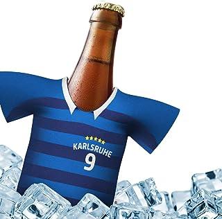 Alles für Karlsruhe-Fans by Ligakakao.de Mein Karlsruhe Trikotkühler | Eiskalter Biergenuss. Jedes Spiel. Jedes Tor. Jeden Moment | Fan-Edition für Zuhause | Home-Trikot Herren Bier Flaschenkühler & Fanartikel by Ligakakao.de