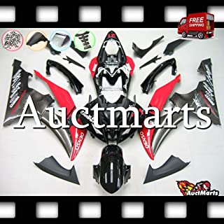 Auctmarts Injection Fairing Kit ABS Plastics Bodywork with FREE Bolt Kit for Yamaha YZF-R6 YZF R6 2008 2009 2010 2011 2012...