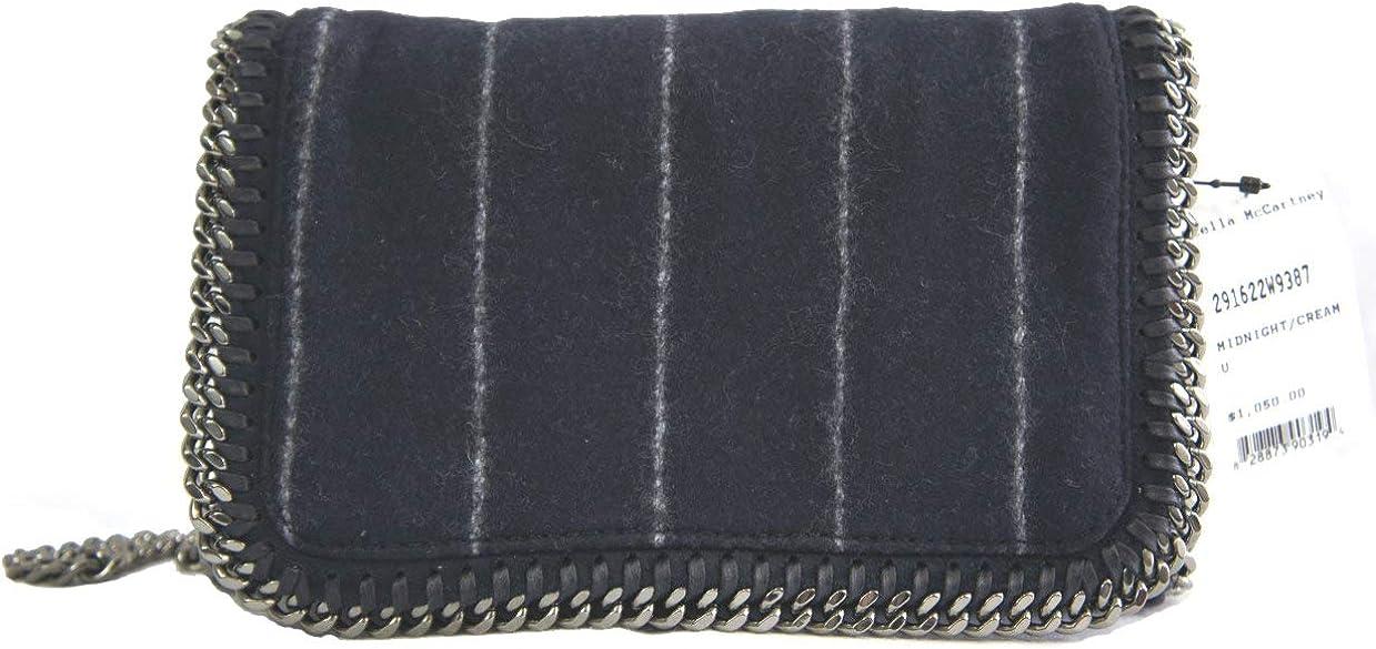 Stella McCartney Falabella Wool Pinstripe 291622W9387 Shoulder Bag
