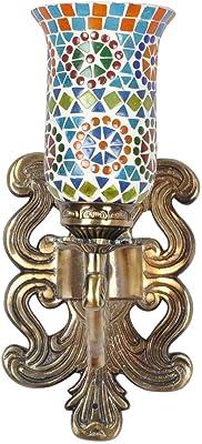 Amazon.com: Lalhaveli - Lámpara de pared de cristal de ...