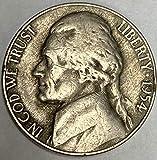 1954 P Jefferson Nickel Average Circulated Five-Cent Piece
