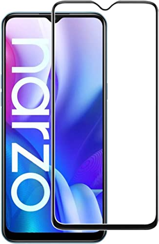 Realme Narzo 20 edge to edge temper glass Realme Narzo 20 screen guard 5D 6D 11D 99D Tempered Glass Pack of 1 By Candeal mart