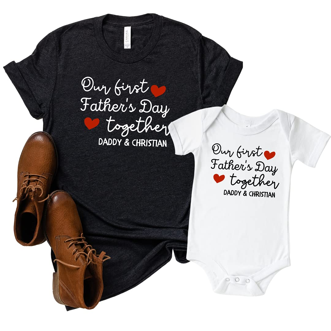 Matching Rapid rise First Fathers Day Outfit Our Shirts Very popular!