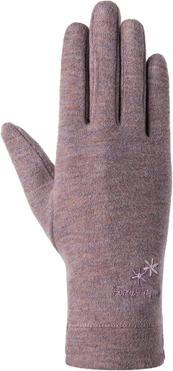 CHHNGPON Ladies Gloves Fashion Women Autumn Winter Warm Sports Fitness Touch Screen Cycling Thin Mittens Female Wool Knit Cashmere Gloves (Color : B Pink, Gloves Size : One Size)