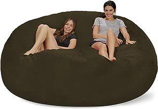 Chill Sack Bean Bag Chair: Giant 8' Memory Foam Furniture Bean Bag - Big Sofa with Soft Micro Fiber Cover - Olive