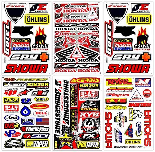 Dirt Bike Dirtbikes Motorcycle Motos Motocross Motorcross Bikes Motorex atv performance part garage toolbox Racing Pack 6 Vinyl Graphics Decals and Stickers set D6725 Best4Buy