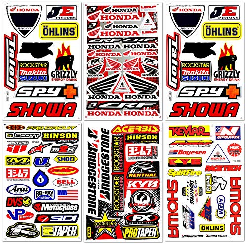 Dirt Bike Dirtbikes Motorcycle Motos Motocross Motorcross Bikes Motorex atv performance part garage toolbox Racing Pack 6 Vinyl Graphics Decals and Stickers set D6725 Best4Buy