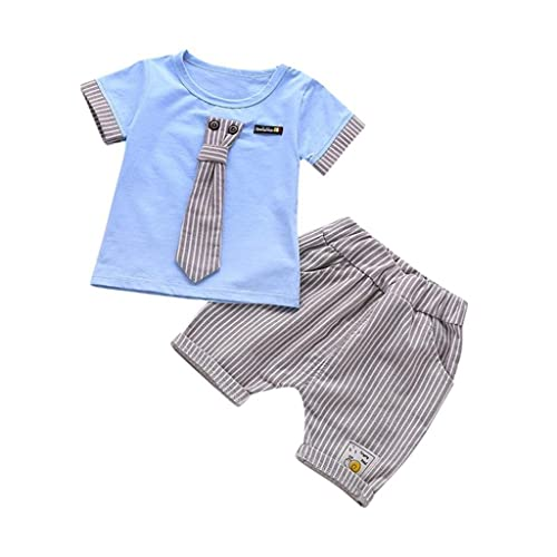 Newborn Infant Baby Girls Fashion Car Print Rocket T-Shirt Tops Denim Pants Summer Outfits Clothes SHOBDW Boys Clothing Sets