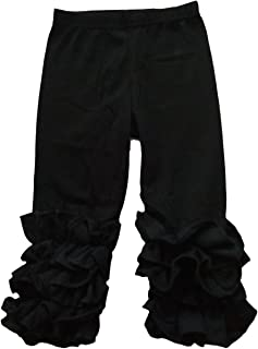 Little Girls Ruffle Pants Icing Solid Cotton Pant
